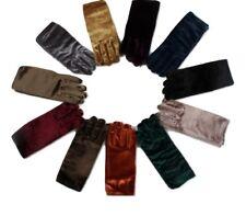 Vintage Women Winter Warm Wrist Velvet Gloves UK Gift