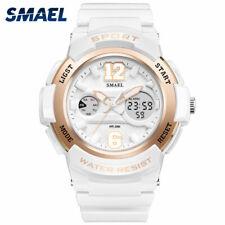 SMAEL Analog Digital Dual Display Damen Mädchen Armbanduhr Uhr Sportuhr 50m