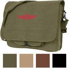 Canvas Israeli Military Paratrooper Emblem Shoulder Messenger Bag