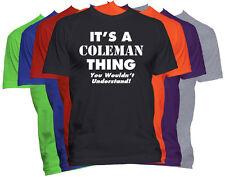 COLEMAN Last Name Family Name T-Shirt Custom Name Shirt Family Reunion Tee S-5XL
