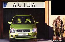 2000 Opel Agila German Prospekt Sales Brochure