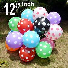 "12"" INCH 10-100 ☯Latex POLKA DOT Quality Party Birthday Wedding Balloons baloons"