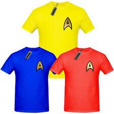 Gold Emblem Star Trek Uniform T Shirt,Captain Kirk,Spock, Scotty, Enterprise