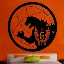 Gforce Godzilla con el logotipo de vinilo de etiquetas de pared arte Cuarto De Niños Chicos Chicas (Br8)