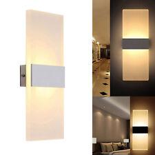 Applique LED 8W lampada moderna parete vetro opaco luce muro ingresso 220V IP20