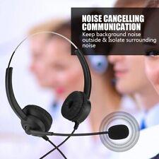 2.5mm/Dual 3.5mm/Crystal Plug Call Center Headset 360° Rotary Earmuffs Headphone