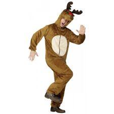 Reindeer Costume Adult Red Nosed Rudolf Christmas Fancy Dress
