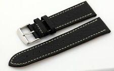 Condor Uhrband Uhrenband 18-24mm Büffelprägung- auch extralang- schwarz 307