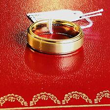 Tungsten Ring 14K Gold Wedding Band 6mm Men's Women's Bridal Jewelry Size 7-9