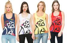 Desigual Painted Flower Design Dulcie Vest S-XXL RRP?34 Fun Summer