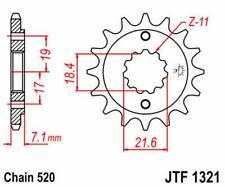 F132114: JT SPROCKETS Piñon JT 1321 de acero con 14 dientes