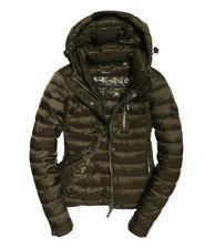 Womens Superdry Luxe Fuji Zip Hooded Jacket Coat  rrp £90