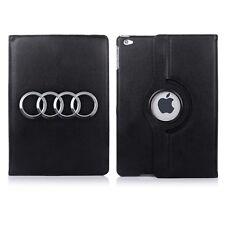 Funda y base giratoria Audi emblema para Apple iPad Mini Air Pro