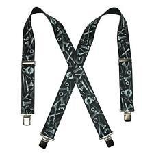 8de2ca46be3 New CTM Men s Elastic Clip-End 2 Inch Nuts   Bolts Medley Suspenders