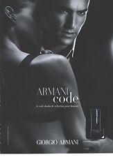 PUBLICITE advertisng 2006  ARMANI  parfum homme CODE