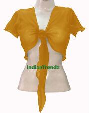 Golden - Belly Dance Tie Top Flair Wrap Choli Gypsy Haut Orientale Blouse