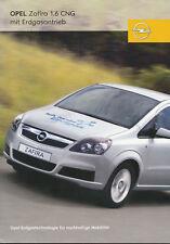 Opel Zafira 1.6 CNG Erdgas Prospekt 9/06 brochure