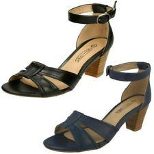 Donna Spot On con tacchi cinturino alla Caviglia sandali ' cuciture VAMPIRA'