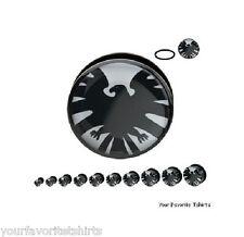 Avengers Shield Symbol Body Jewelry Acrylic Screw Fit Plugs