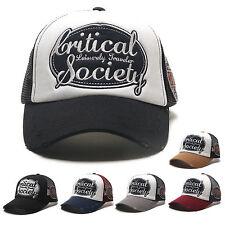 Unisex Mens Womens Critical Society Mesh Baseball Cap Snapback Trucker Hats