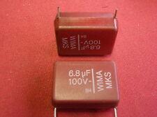 KONDENSATOR 6,8µF 100V WIMA rot 31x22x13mm  2x 21949-24