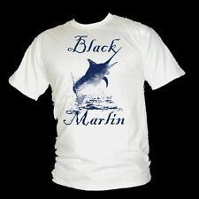 NERO MARLIN - Leap of Faith - Billfish pesca T-Shirt Uomo