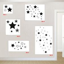 Sterne Wandtattoo Aufkleber verschiedene Sternesets Wandmotiv Kinderzimmer Deko