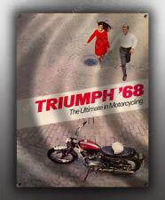VINTAGE TRIUMPH 1968 MOTORCYCLE AD BANNER