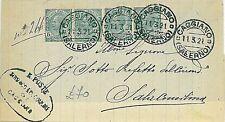 ITALIA REGNO: 1921 SALERNO da CAGGIANO a Sala Consilina