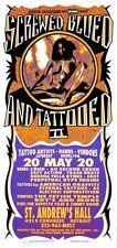 Screwed Blued Tattooed II HANDBILL Crud 60 Second Crush Artist Mark Arminski