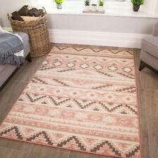Tribal Pink Rug | Blush Living Room Rugs | Traditional Mat For Bedroom | Scandi