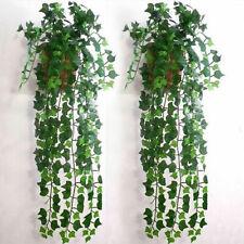 1x Artifical Vine Decor Foliage Garland Fake Plant Wedding Leaf Grape Ivy Plants