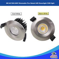 8 W AC180-240V LED Regulable fuego nominal Downlight COB Luz Blanco Frío/Blanco Cálido