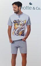 NOTTE & CO. Pigiama corto, Uomo in 100% Cotone. Art. 3553 LUCIO. Mod. Serafino.