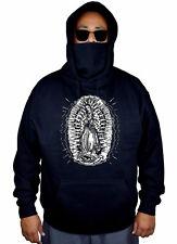Men's Virgin Mary Mask Hoodie Faith Lady Guadalupe Catholic Maria Sweater Jacket