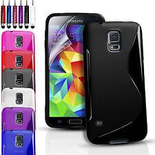 Silicona Gel Funda Para Samsung Galaxy S4 I9600 sm-g900f Y Protector De Pantalla