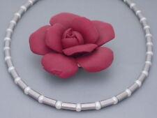 Edelstahl Halskette Collier echte Süßwasser Perlen weiß lange kurze schöne Damen