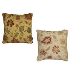 Paoletti Zurich Floral Chenille Jacquard Piped Cushion Cover