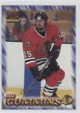 1997 Pacific Invincible NHL Regime 44 Jim Cummins Chicago Blackhawks Hockey Card