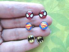 Superhero marvel  batman, superman, spiderman stud earrings-BUY 1 GET 1 FREE