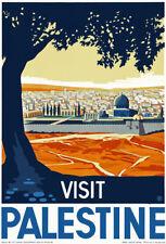 T84 Vintage visitar Palestina viajar cartel A1 A2 A3