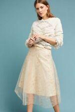 NWT Anthropologie Eva Franco Metallic Tulle Star Skirt, Size 8, Charming, $188