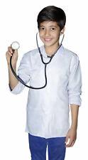 NEW COTTON KIDS BOYS CHILDREN WHITE LAB COAT JACKET DOCTOR MEDICAL SCHOOL SHOWS