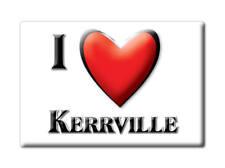 SOUVENIR USA - TEXAS GIFT FRIDGE MAGNET AMERICA I LOVE KERRVILLE (KERR COUNTY)