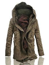 ca776397472 New Men s Jacket Stylish Hooded Canvas Cotton Winter Warm Outwear Coat parka  Hot