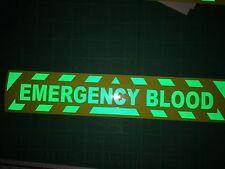 Pegatina reflectante HI VIZ EMERGENCY BLOOD o señal magnética cheurones de primeros auxilios