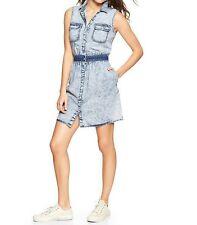 Gap New $74.95 Women's 1969 Marble Wash Denim Shirtdress Limited Edition SizeS.M