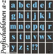 Wandschablonen, Schriftschablonen, Buchstaben, Kleinbuchstaben a-z, 2-30cm höhe