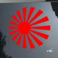 Rising Sun Japanese Roundel Japan Naval Car Sticker Decal red