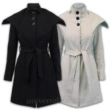 Damas abrigo de lana mezcla Chaqueta Para Mujer Celebridad Gabardina Forrado Cinturón Moda Invierno Nuevo